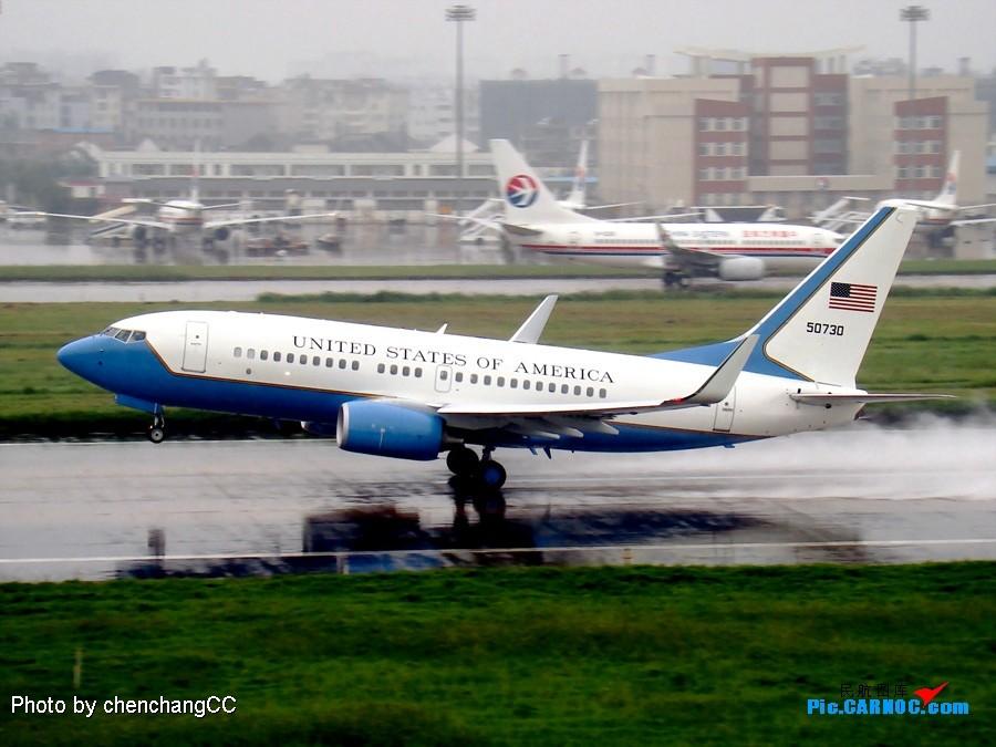 Re:新年第一贴——纪念和冰雪鱼相识一周年 BOEING C-40C BBJ (737-7CP) 05-0730 昆明国际机场