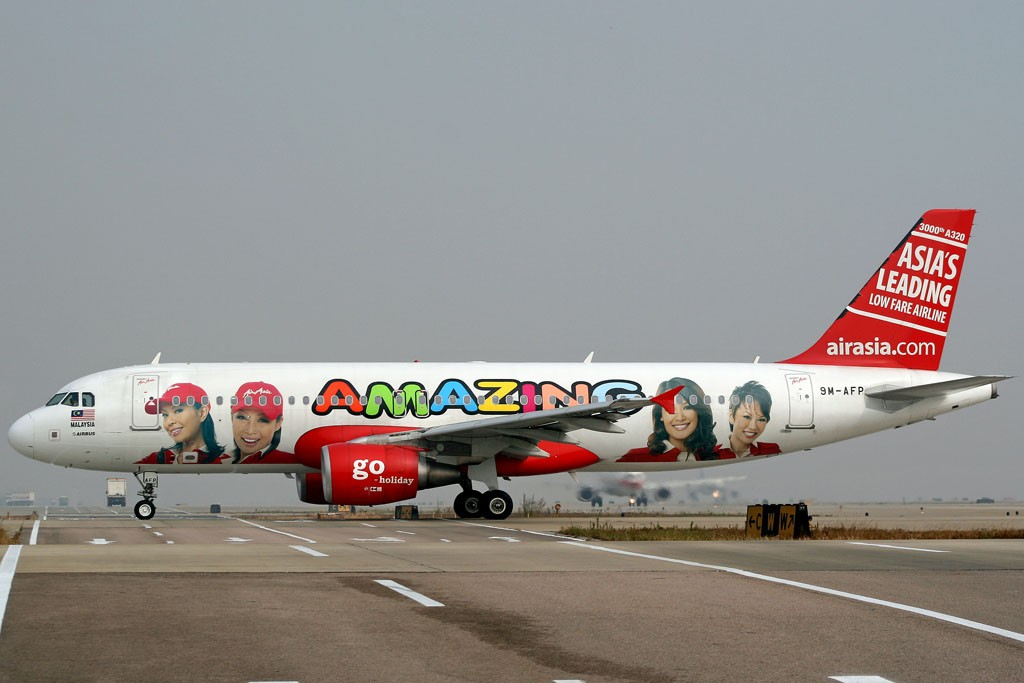 [CASG]Amazing CAN , Amazing AirAsia !! AIRBUS A320-200 9M-AFP 中国广州白云机场