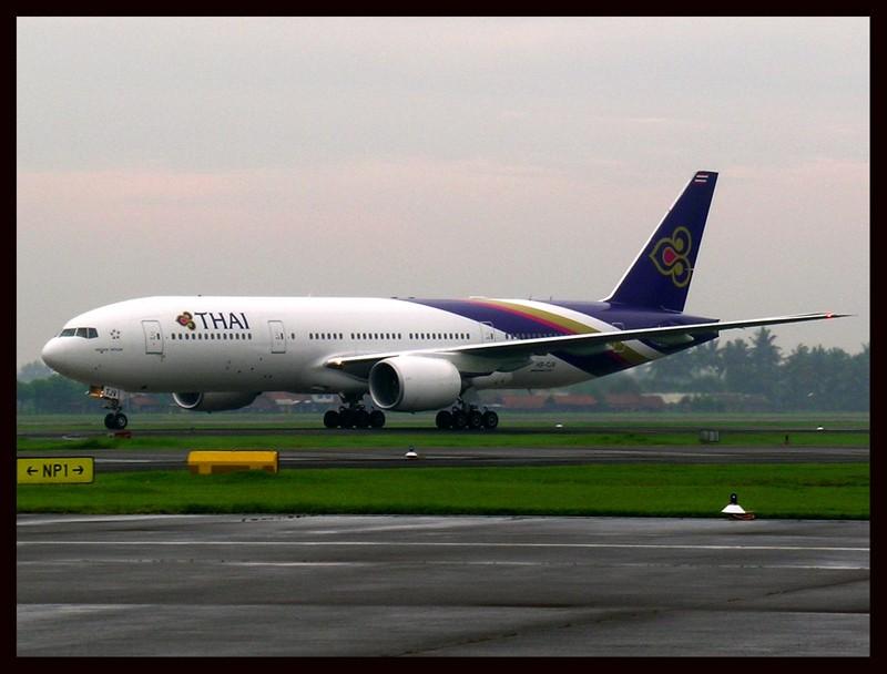[原创]我也拍到TG新涂装777 B777-200 HS-TJY 雅加达