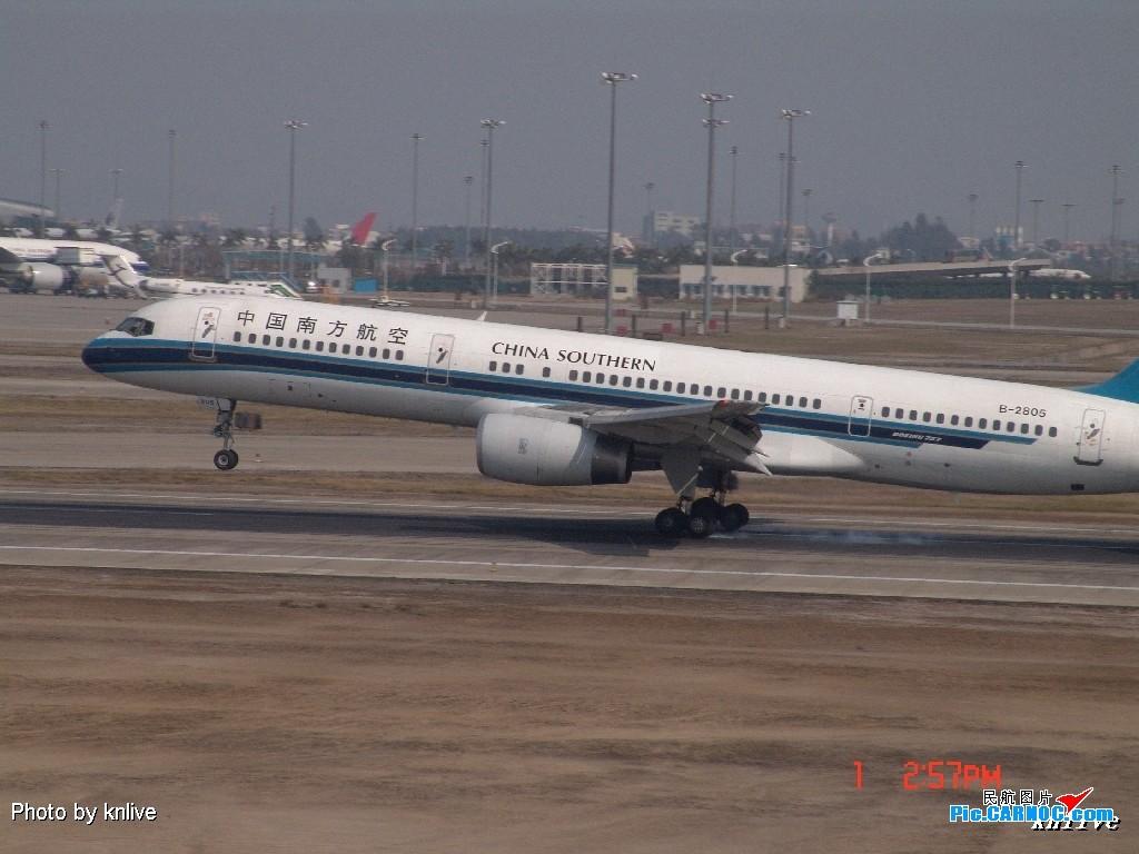 Re:[原创]3月1日,ZGGG飞机大杂烩 BOEING 757-200 B-2805