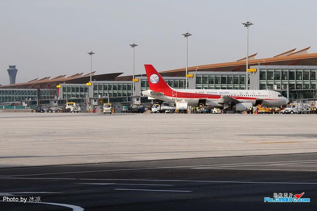 Re:[原创]T3开始使用了.01开始落飞机了,我家也就成为了拍机神仙位了(图片质量差)!直播刚刚01落地的SC4653! AIRBUS A320-200 B-6025 中国北京首都机场