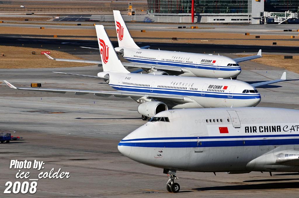 [原创]比翼双飞 & 叠影重重 AIRBUS A330-200 B-6113 中国北京首都机场