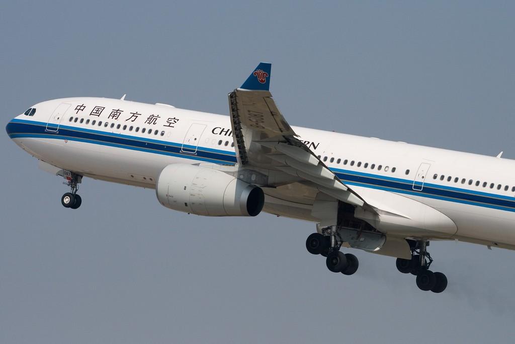 [原创][深圳打机队]=====空中刹车===== AIRBUS A330-300 B-6087 深圳宝安国际机场