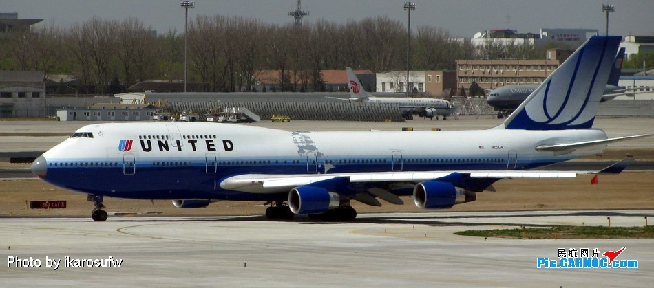 Re:[原创]大家看看这架UA744的涂装 鼻子是旧的,身子还起皮 747-400  PEK