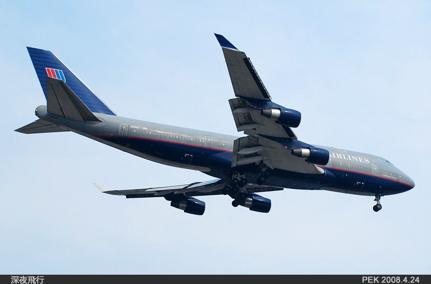 Re:[原创]RP如此重要!记PEK我的第一次打灰机... BOEING 747-400 N121UA 中国北京首都机场  飞友