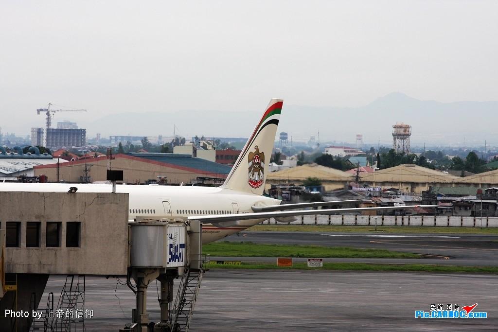 阿联酋阿提哈德7770-300ER,他们说要换个角度再来一次 BOEING 777-300ER A6-ETD Philippines MANILA NINOY INTL