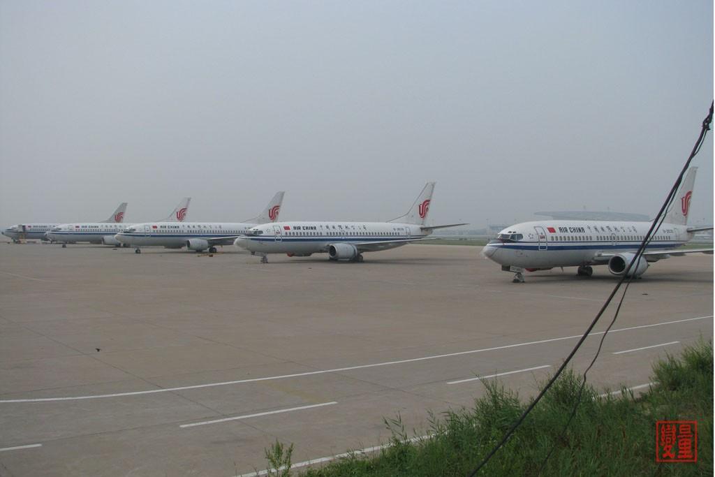 [原创]湾流V超远程公务机+国航集体晒太阳+货机!经典!不看后悔哦! BOEING 737-300  中国天津滨海机场
