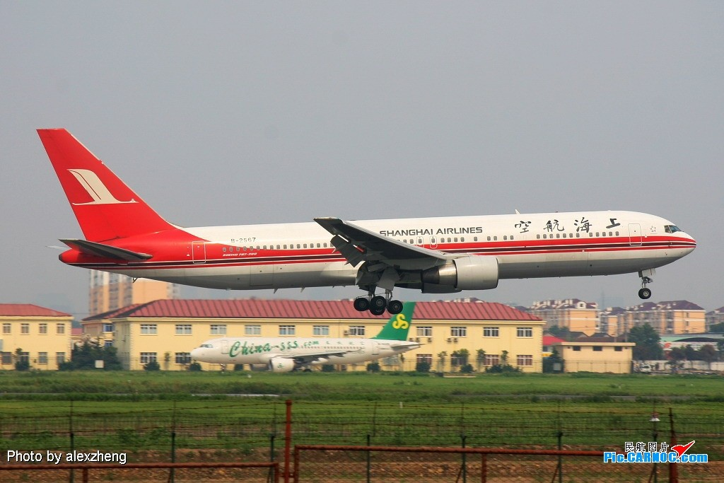 Re:[原创]烈日下的虹桥拍机 BOEING 767-300 B-2567