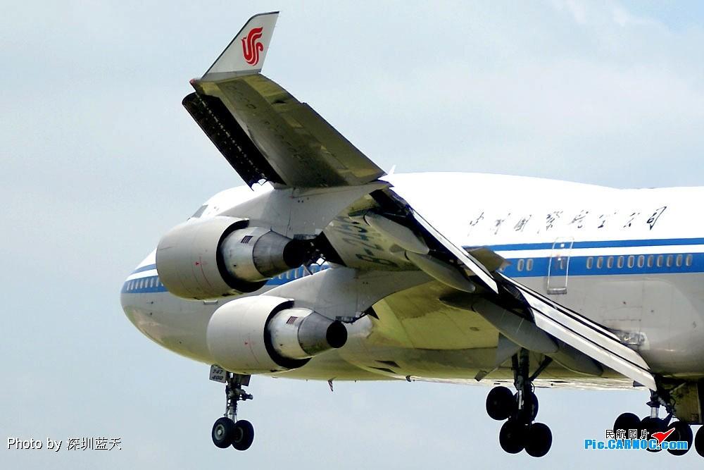 [原创]【深圳打机队】国航747之B-2456打头阵,少见的擦烟! BOEING 747-400 B-2456 中国深圳宝安机场