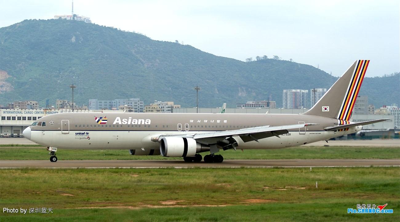 Re:[原创]【深圳打机队】国航747之B-2456打头阵,少见的擦烟! BOEING 767-300 HL7528 中国深圳宝安机场