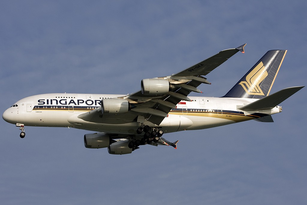 Re:[原创]貌似网络正常了,发几张热身一下 AIRBUS A380-800 9V-SKA 新加坡樟宜机场
