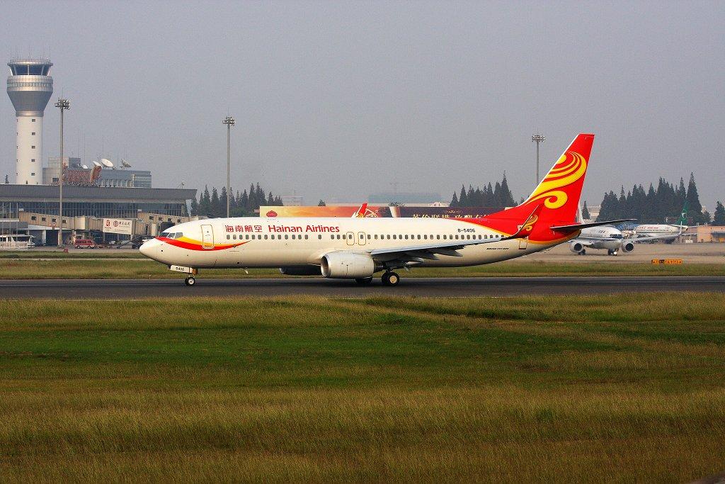 Re:[原创]很久不贴图了,海南航空 BOEING 737-800 B-5406 中国合肥骆岗机场