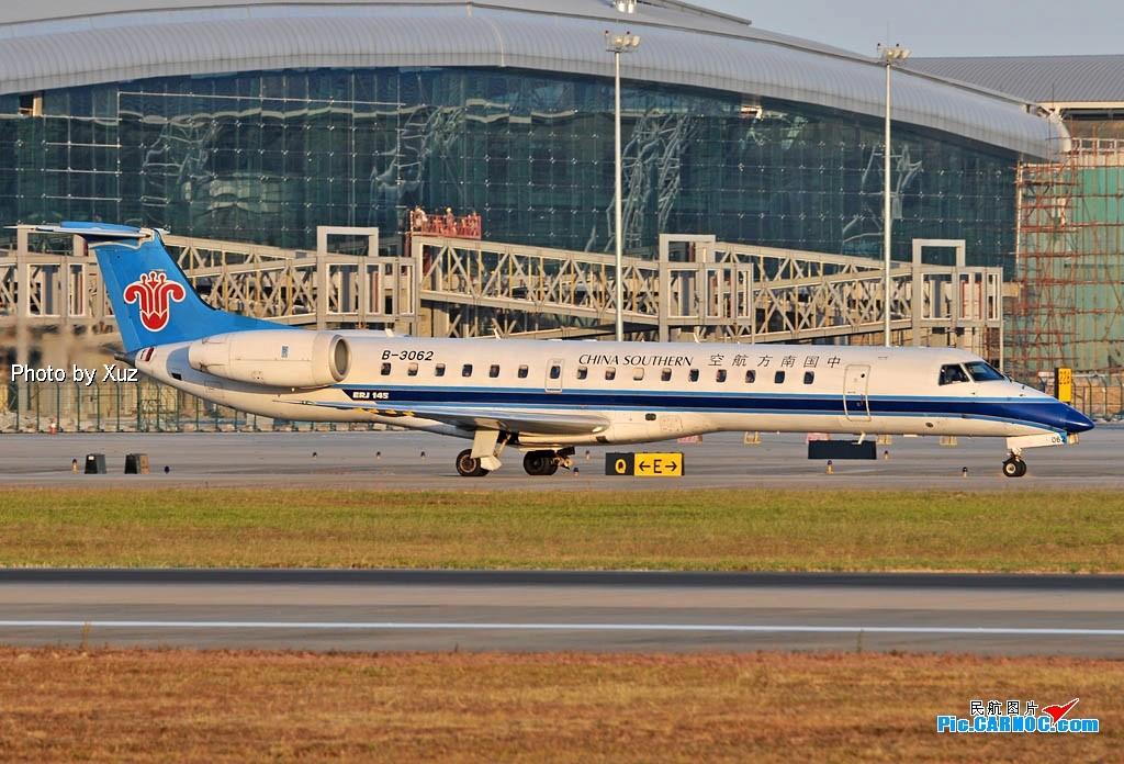 [原创]老徐拍飞机- 日落时的白云 EMBRAER ERJ-145 B-3062 中国广州白云机场