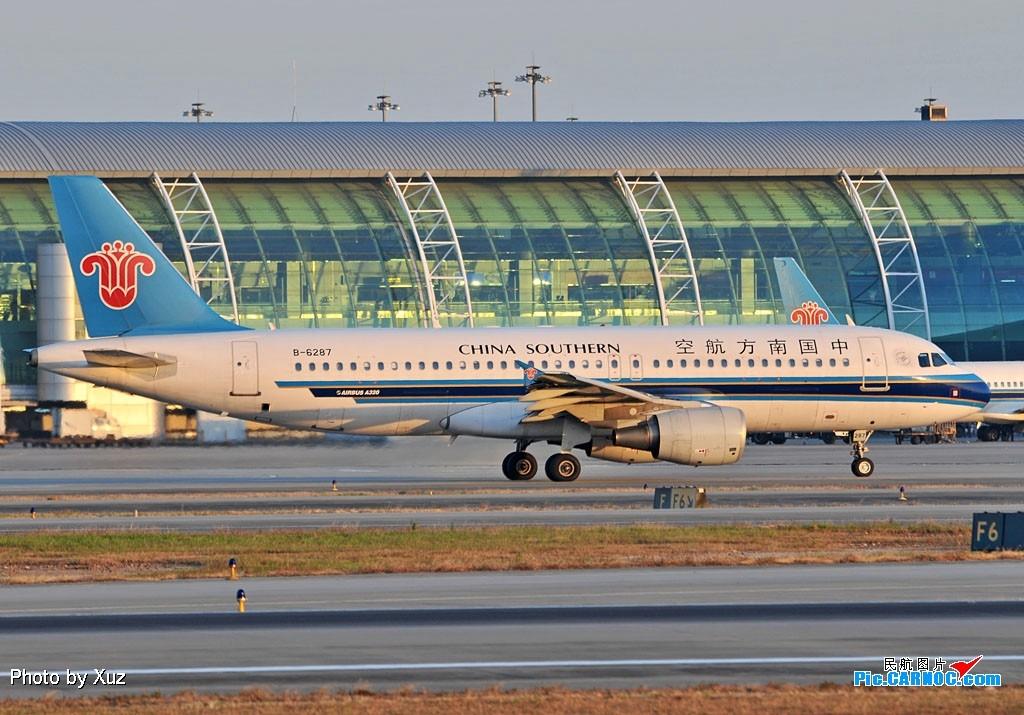 Re:[原创]老徐拍飞机- 日落时的白云 AIRBUS A320-200 B-6287 中国广州白云机场
