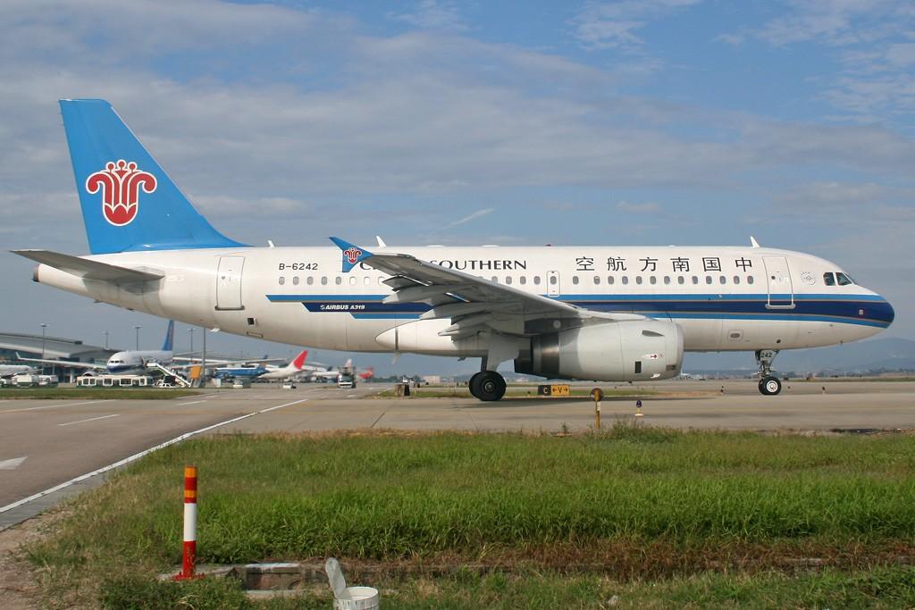 Re:[原创][CASG]蓝蓝的天空白云飘啊 AIRBUS A319-100 B-6242 中国广州白云机场