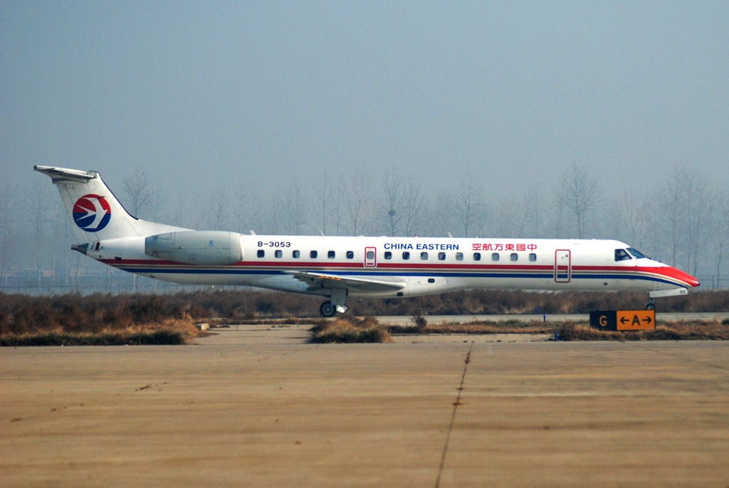 Re:[原创]烂天气+破技术=没有飞机的SJW(石家庄机场杂图,有巴基斯坦空军) EMBRAER ERJ-145 B-3053 中国石家庄正定机场