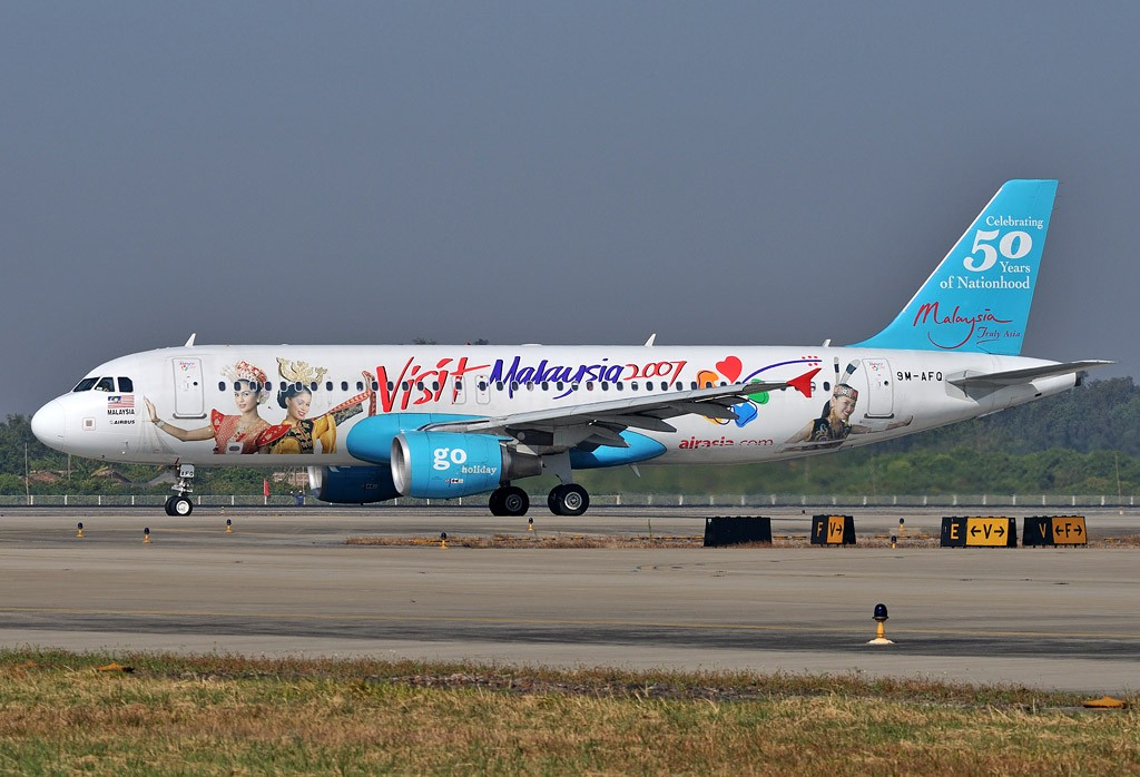 [原创]老徐拍飞机 -  亚航的马来西亚2007 AIRBUS A320 9M-AFQ 中国广州白云机场