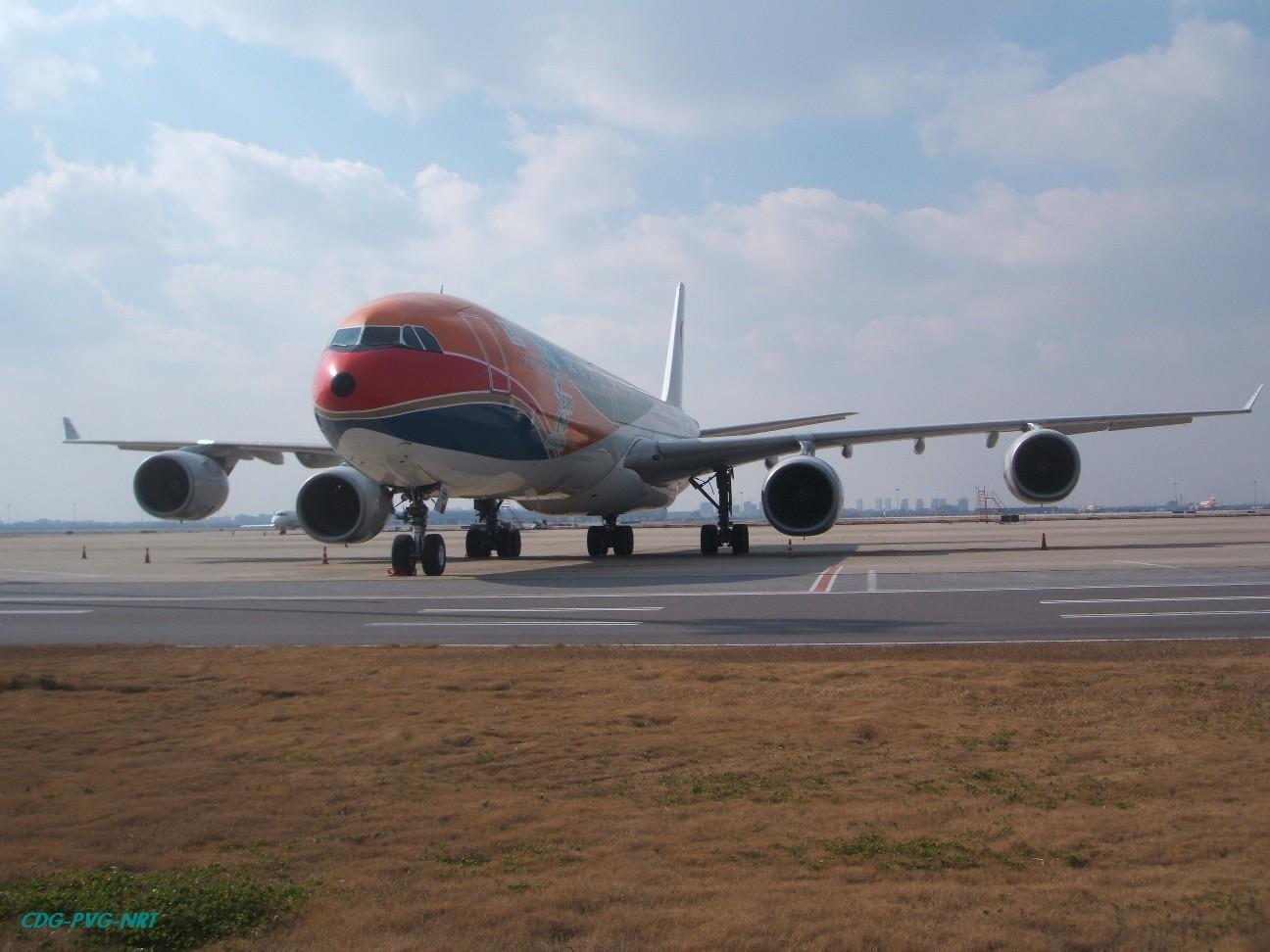 Re:新年快乐,仍然PVG AIRBUS A340-642 B-6055 中国上海浦东机场
