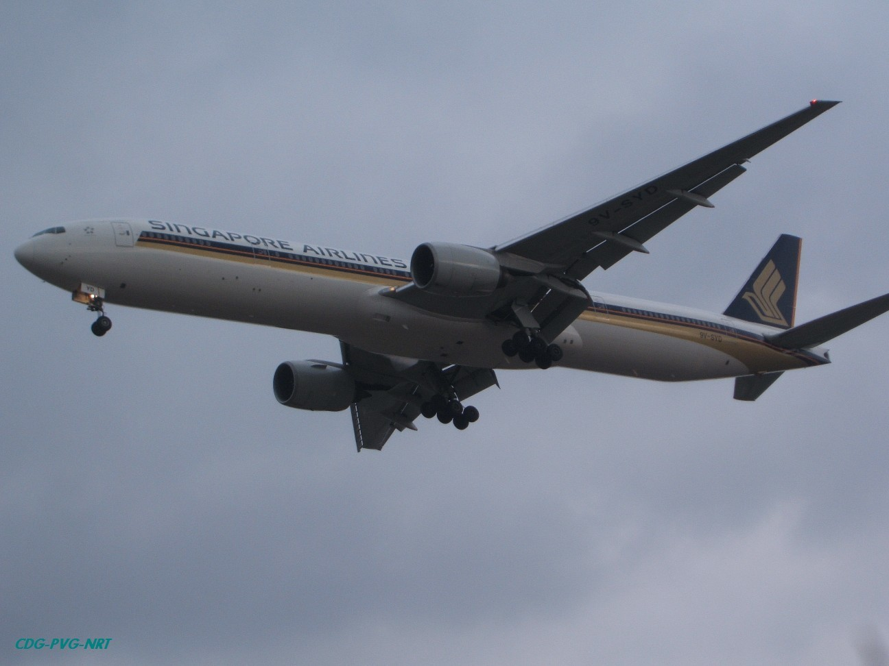 Re:新年快乐,仍然PVG BOEING 777-312 9V-SYD 中国上海浦东机场