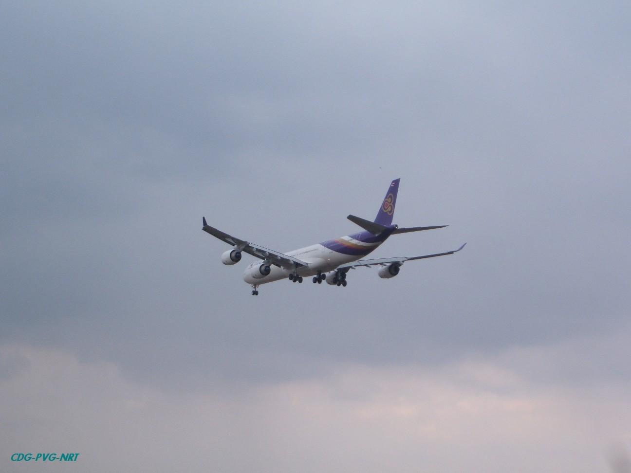 Re:新年快乐,仍然PVG AIRBUS A340-642 HS-TNF 中国上海浦东机场