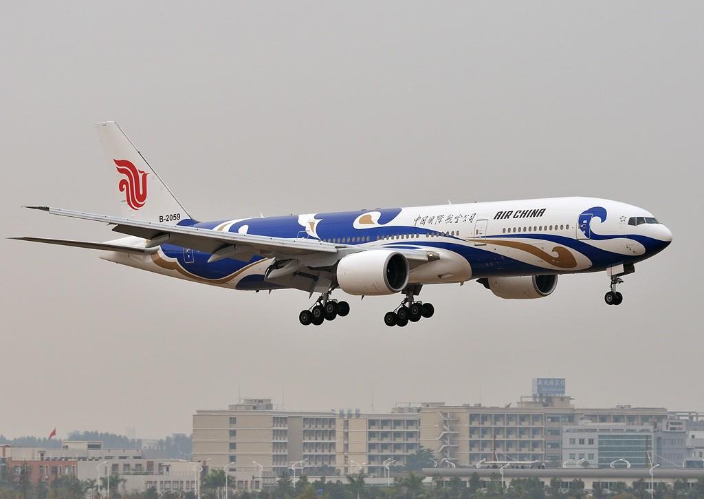 [原创]老徐拍飞机- 国航的彩绘大家伙 BOEING 777-200 B-2059 中国广州白云机场