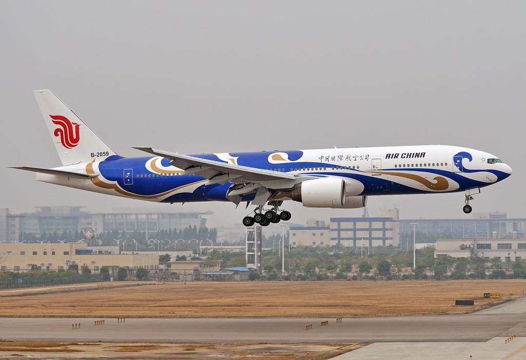 Re:[原创]老徐拍飞机- 国航的彩绘大家伙 BOEING 777-200 B-2059 中国广州白云机场