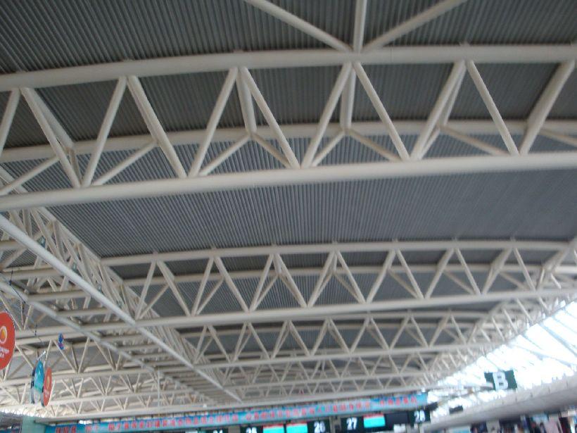 三亚机场的顶部结构