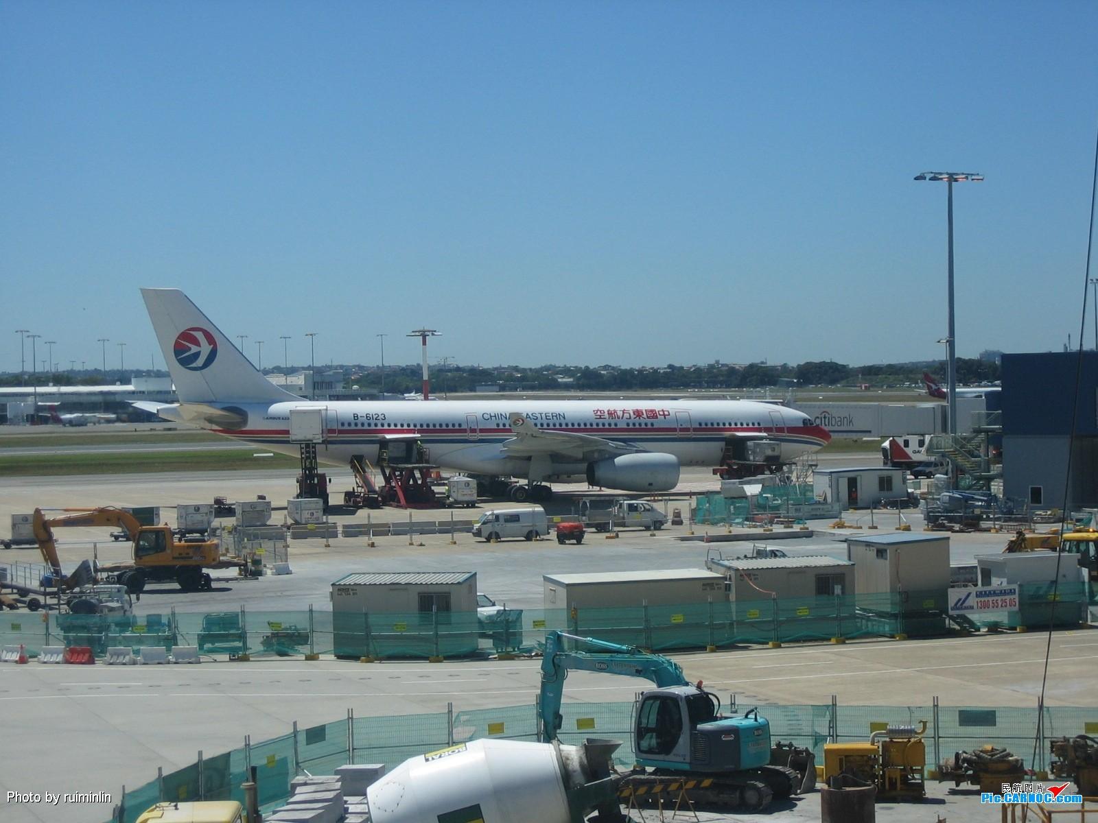 Re:[原创]【深圳打机队】把自己拍过的东航飞机做个小小的总结,欢迎大家按一楼没有出现的飞机编号跟图,我们一起来完善东航飞机系列图! AIRBUS A330-200 B-6123 悉尼机场