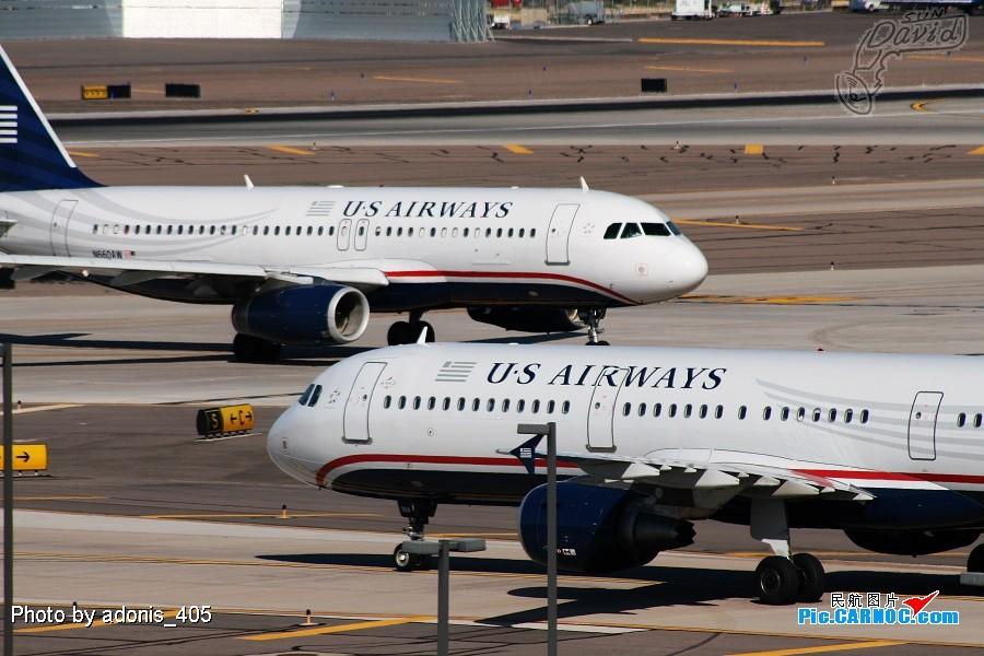 Re:[原创]塔台的兄弟喜欢拍哥俩好系列,我也拍美版哥俩好。 AIRBUS A320-232 N660AW Phoenix Sky Harbor International Airport