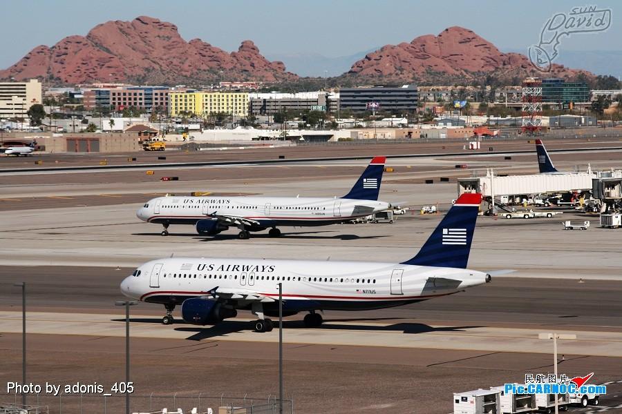 Re:塔台的兄弟喜欢拍哥俩好系列,我也拍美版哥俩好。 AIRBUS A320-214 N111US Phoenix Sky Harbor International Airport