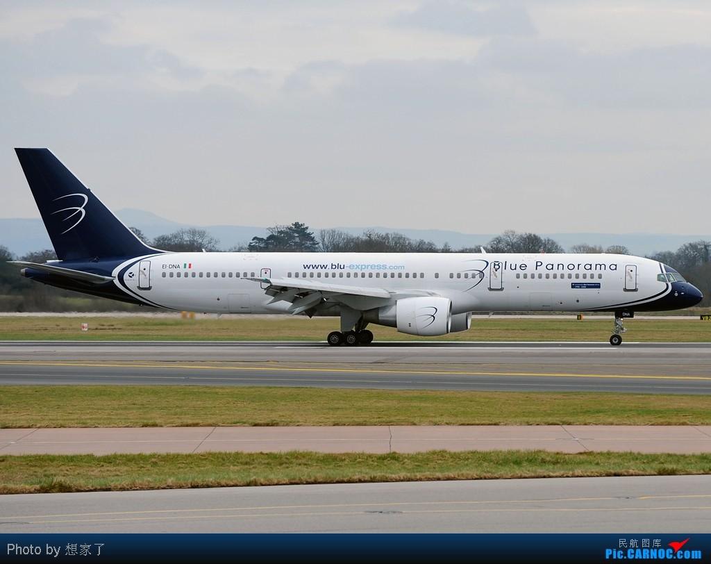 """[原创]曼城---将一英镑的""""内场""""进行到底(附几张超广角下的拍机阵地) BOEING 757-200 EI-DNA Great Britain (UK) MANCHESTER INTL"""