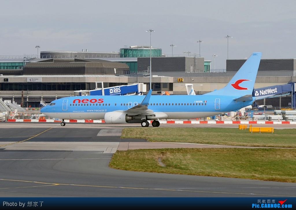 "Re:[原创]曼城---将一英镑的""内场""进行到底(附几张超广角下的拍机阵地) BOEING 737-800 I-NEOW Great Britain (UK) MANCHESTER INTL"