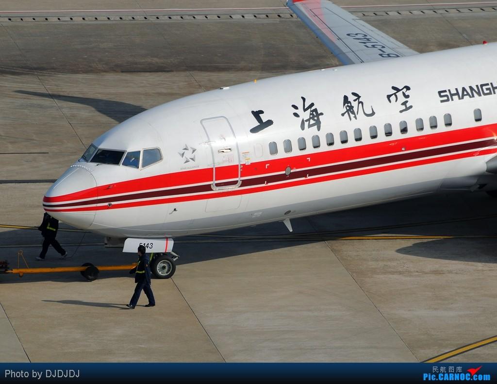 [原创]【SHA】美丽的上航738,这么俗的题目我都想出来了,咳。 BOEING 737-800 B-5143 中国上海虹桥机场