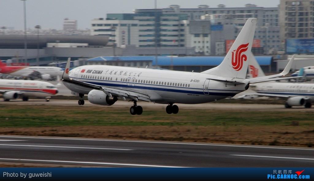 Re:【KMG】+【XMN】降落组图~ BOEING 737-800 B-5391 昆明巫家坝机场