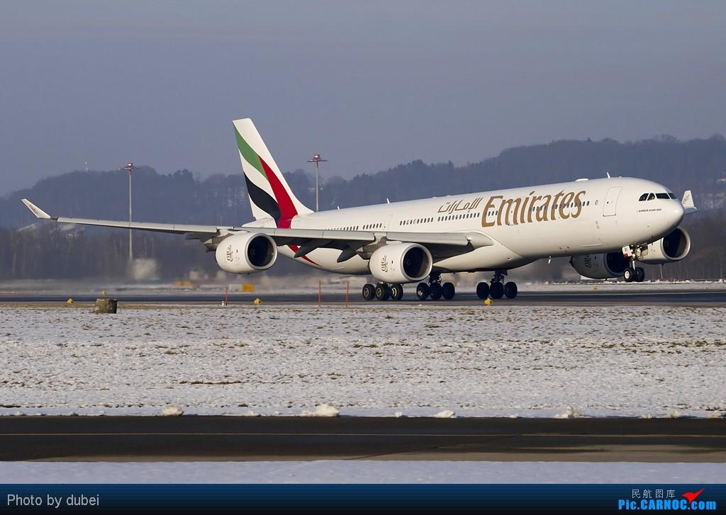 [原创][EASU] 好久没发图了,发点库存,苏黎世的冬天. AIRBUS A340-500 A6-ERI Switzerland ZURICH