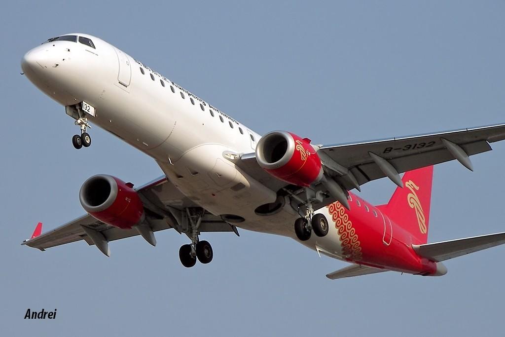 Re:[原创]滨海天空那一抹性感的红肚兜! EMBRAER ERJ-190 B-3132 中国天津滨海机场