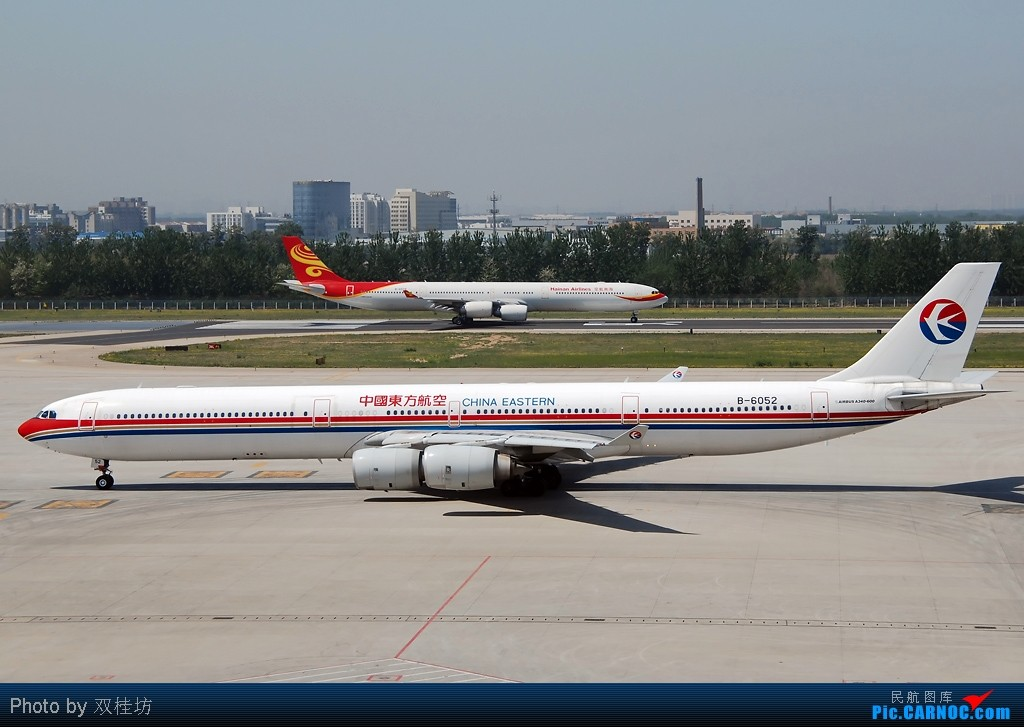 Re:[原创]首都机场同一个镜头里出现两架346,这个可以有 AIRBUS A340-642 B-6052 中国北京首都机场