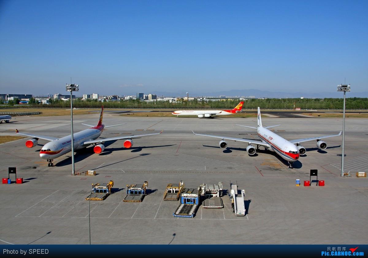 Re:[原创]首都机场同一个镜头里出现两架346,这个可以有 AIRBUS A340-600 B-6053