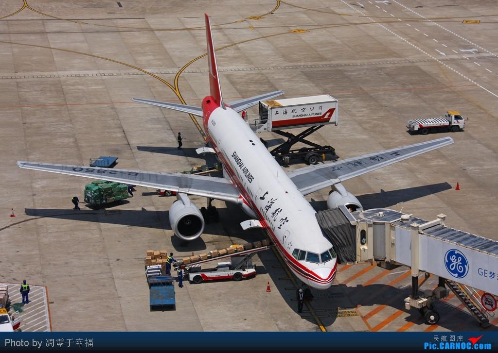 Re:[原创]SHA--大早上拍的照片 BOEING 757-200 B-2850 中国上海虹桥机场