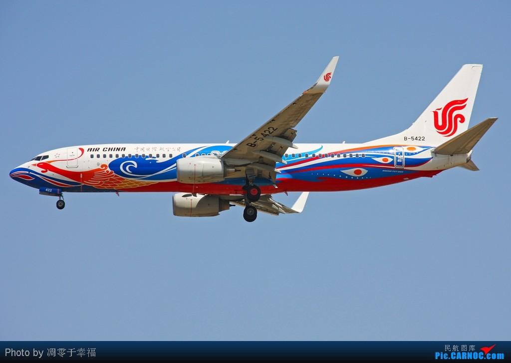 PEK--彩绘收了一箩筐 BOEING 737-800 B-5422 中国北京首都机场