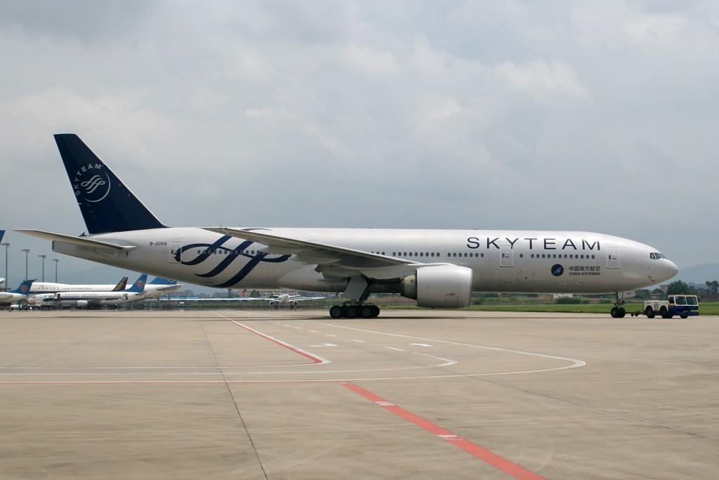 [CASG]新鲜的南航天合联盟涂装,正式出场 BOEING 777-200ER B-2056 中国广州白云机场