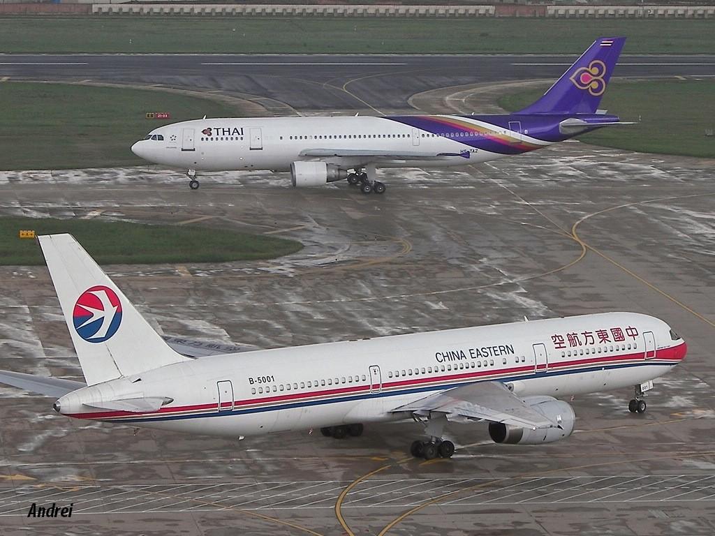 [原创]KMG-相遇在大雨来临前 BOEING 767-300 B-5001 中国昆明巫家坝机场