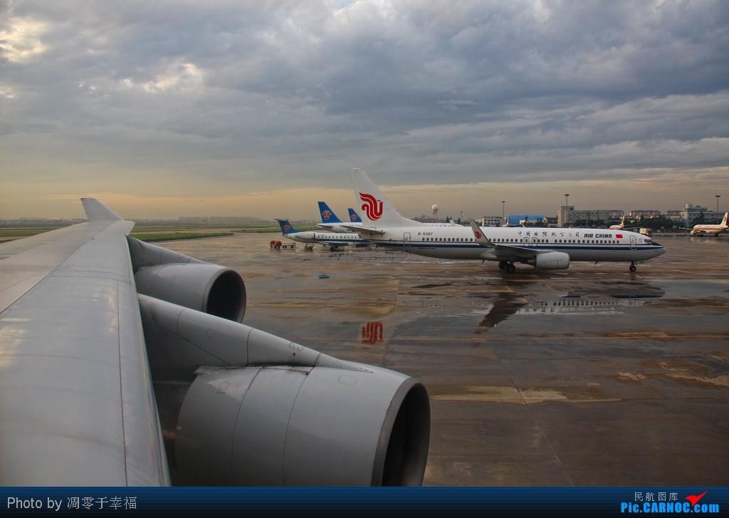 在彩虹与霞光中离开上海!!    中国上海虹桥机场