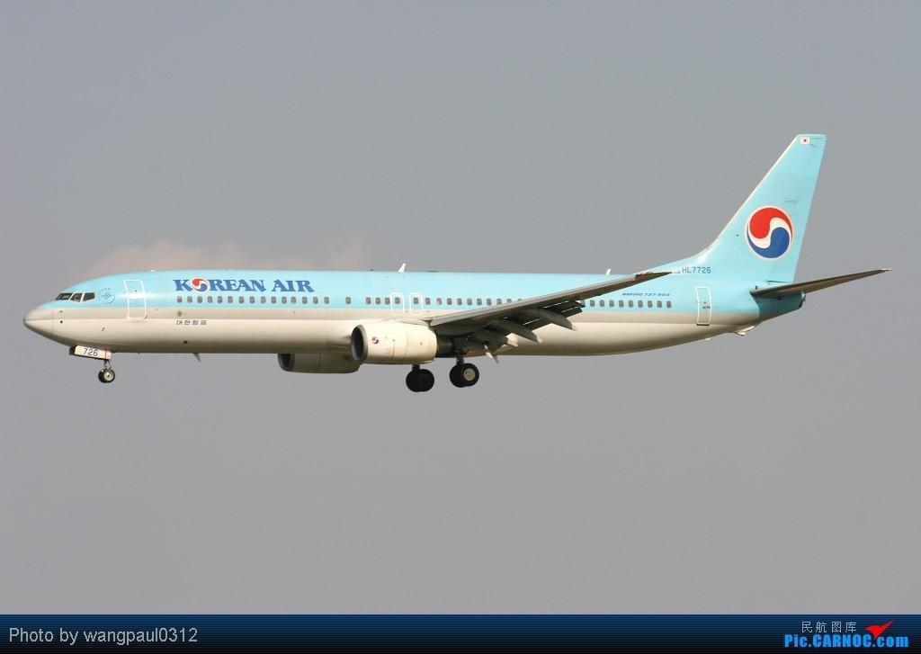 Re:[原创]周末也发帖!好天发新帖,烂天贴旧图 BOEING 737-900 HL-7726 中国北京首都机场