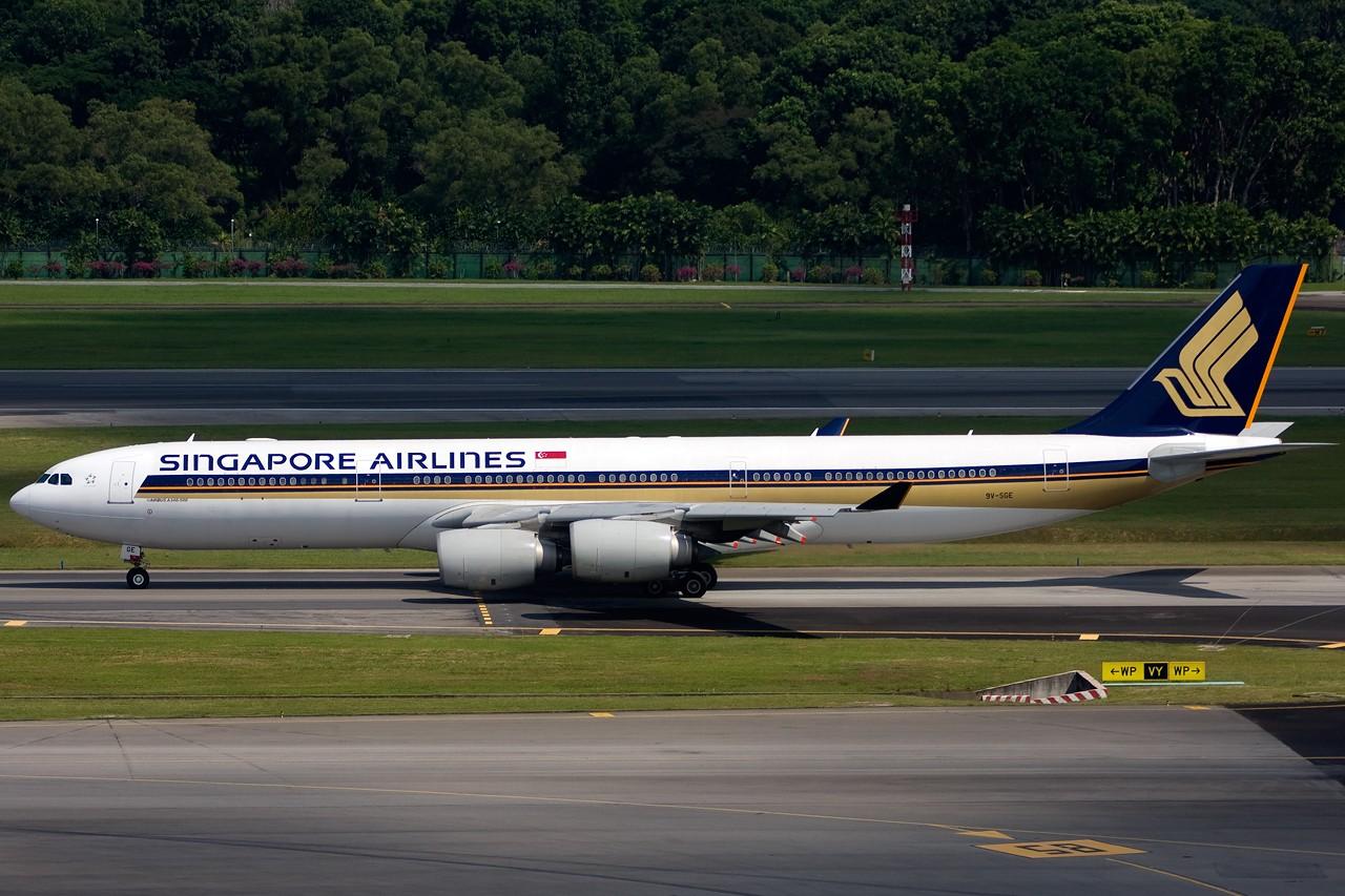 Re:[原创]不多见的机型——几张新航345照片 AIRBUS A340-500 9V-SGE singapore