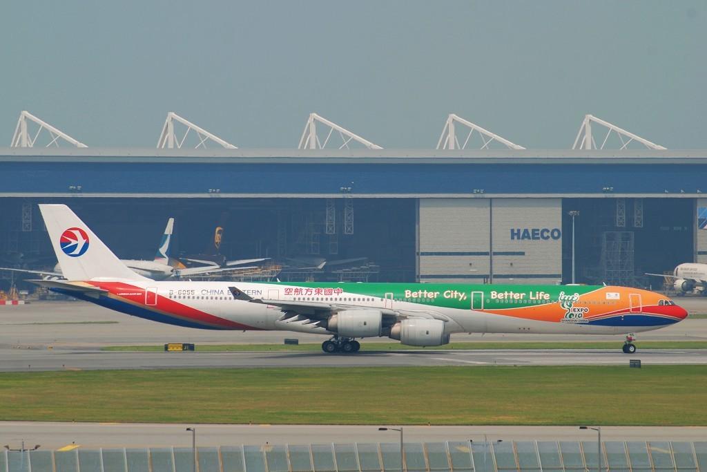 Re:[原创]刚刚从香港机场回来!首次在沙螺湾拍机。刚回来,挺累的,修了几张便即刻发了上来! AIRBUS A340-642 B-6055 中国香港赤鱲角国际机场
