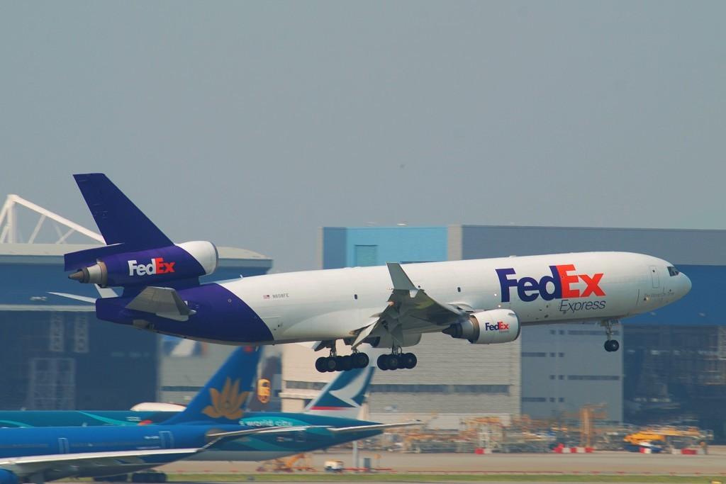 Re:[原创]刚刚从香港机场回来!首次在沙螺湾拍机。刚回来,挺累的,修了几张便即刻发了上来! MCDONNELL DOUGLAS MD-11F N608FE 中国香港赤鱲角国际机场