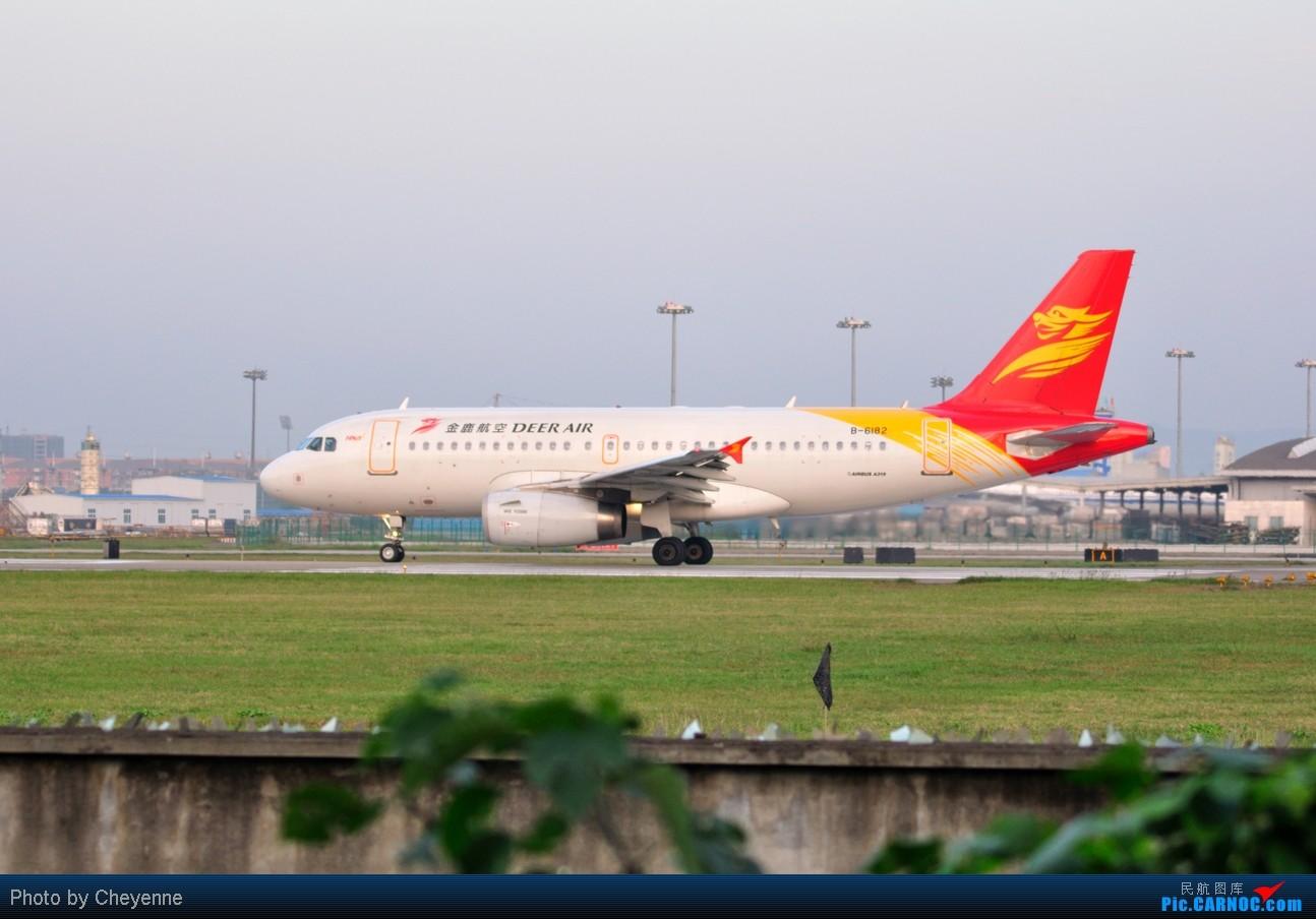 Re:[原创]晴空万里贺佳节,婵娟金凤舞双流! AIRBUS A319-100 B-6182 中国成都双流机场