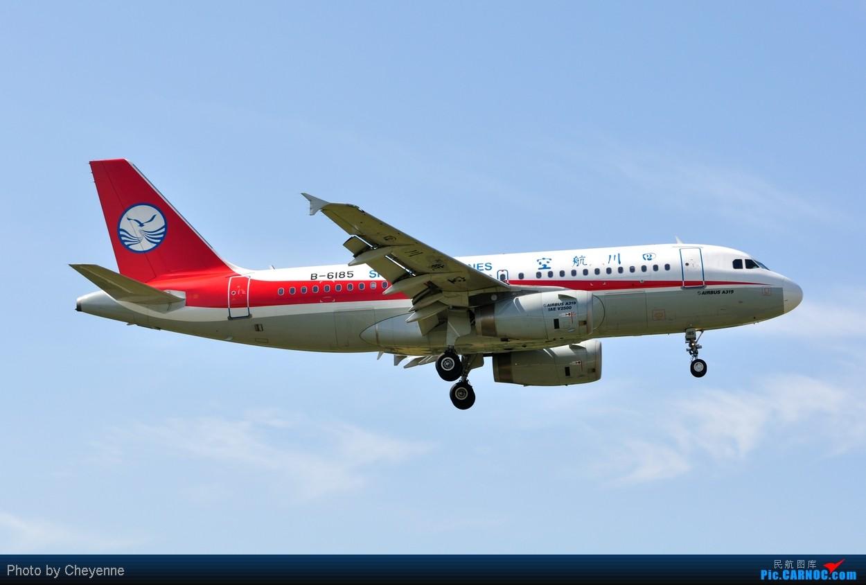 Re:[原创]晴空万里贺佳节,婵娟金凤舞双流! AIRBUS A319 B-6185 中国成都双流机场