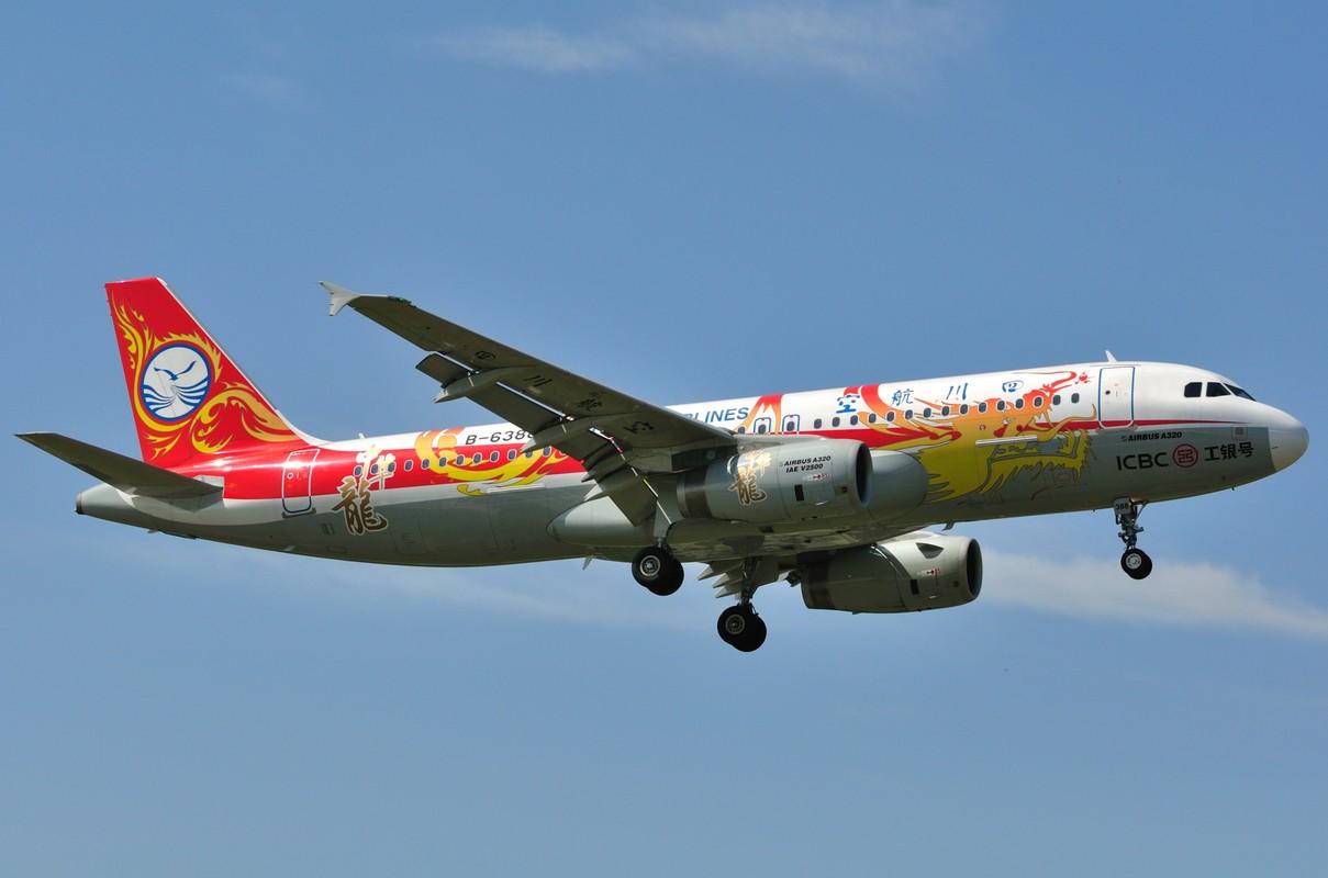 [原创]晴空万里贺佳节,婵娟金凤舞双流! AIRBUS A320-200 B-6388 中国成都双流机场